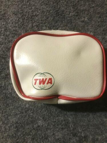 Vintage TWA Airlines Travel Amenity Kit Bag