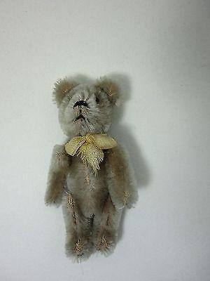 Alter Schuco Mini Teddy  Bär 9cm Schleife