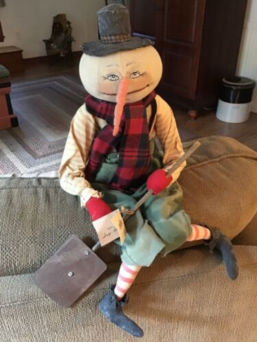 Joe spencer Gathered Traditions Scoop Along Snowman With Shovel