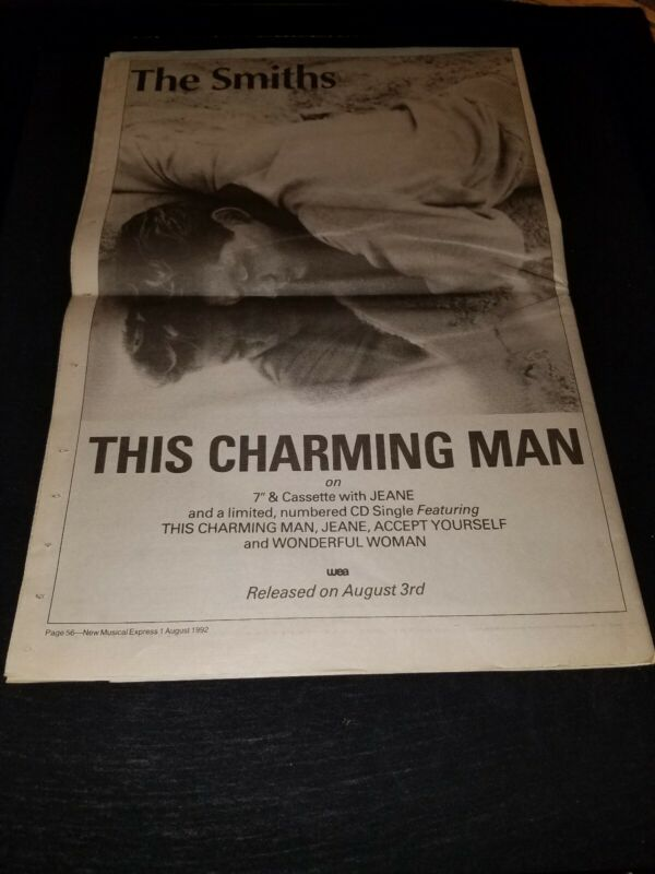 The Smiths This Charming Man Rare Original UK Promo Poster Ad Framed! #2