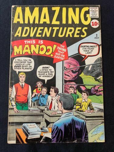 AMAZING ADVENTURES #2 COMIC BOOK (MARVEL,1961) SILVER AGE +