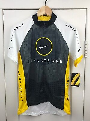 NEW Womens Livestrong Nike Cycling Jersey Short Sleeve Half Zip 90626d8c9