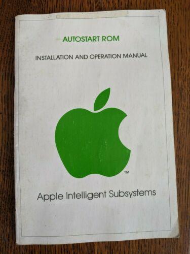 Vintage 1979 Apple Computer Autostart Rom Installation & Operation Manual - RARE