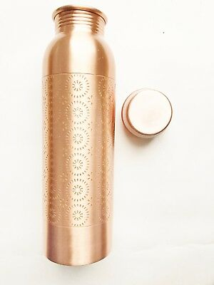 Copper Water Bottle For Ayurveda Health Benefits Spill Proof Joint.USA Seller!!!