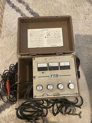 Biddle Megger Ttr 550005 Single Phase Transformer Turn Ratio Test Set