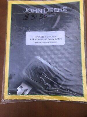John Deere Lx4 Lx5 Lx6 Rotary Cutter Operators Manual