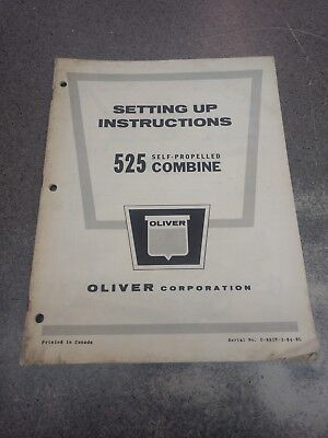 Oliver 525 Combine Setting Up Manual C891n