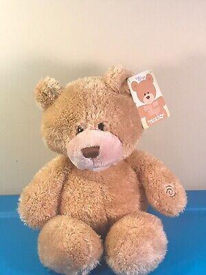 "Baby Gund Hug Me Hugo Talking 15"" Teddy Bear Plush Animated Toy +Tags +Batteries"