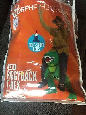(T-rex) - Morph Unisex Piggy Back Dinosaur T-REX Fancy Dress Piggyback Costume
