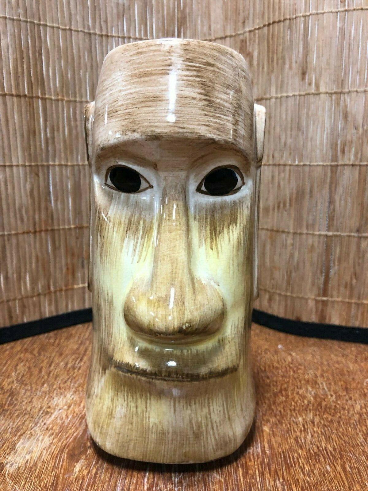 Vintage OMC Painted Eye Moai MCM Mid Century Tiki Mug Japan