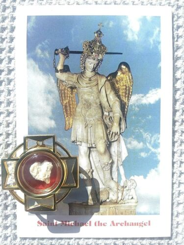 Relic - St. Michael Archangel Stone (Cave Shrine) w/certificate of authenticity