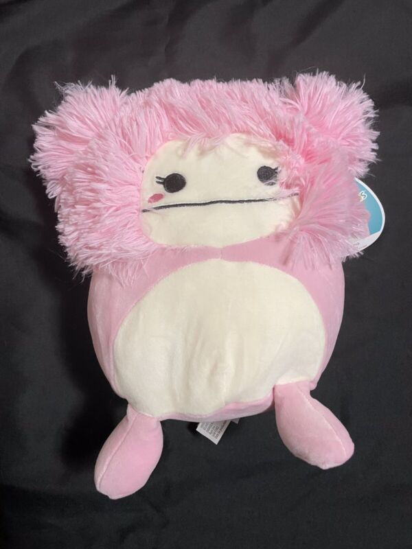 "NEW - Kellytoy Squishmallows 8"" Brina Pink Bigfoot"