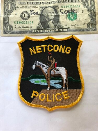 Netcong New Jersey Police Patch un-sewn in Great Shape