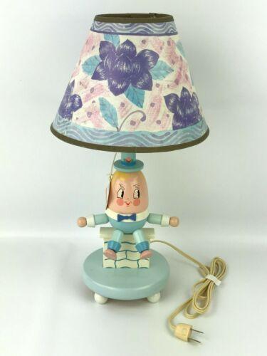 Vintage IRMI Humpty Dumpty Childrens Nursery Lamp Baby Blue