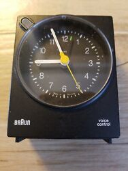 VTG BRAUN Voice Control Alarm Clock RAMS TYPE: 4763/AB30VS GERMANY