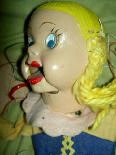 RARE, 1950s HEIDI DOODY with Googly eyes (Howdy Doody) marionette string puppet