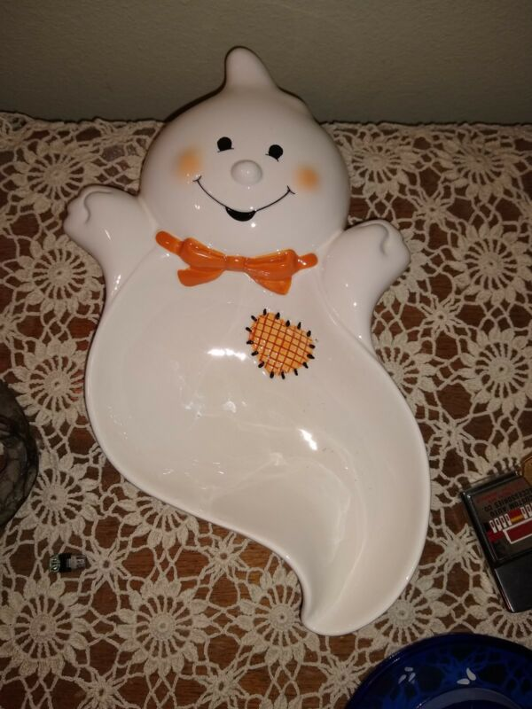Hallmark Ghost Halloween Candy Dish Ceramic