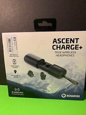 Rowkin Ascent Charge+ True Wireless In-Ear Headphones Black