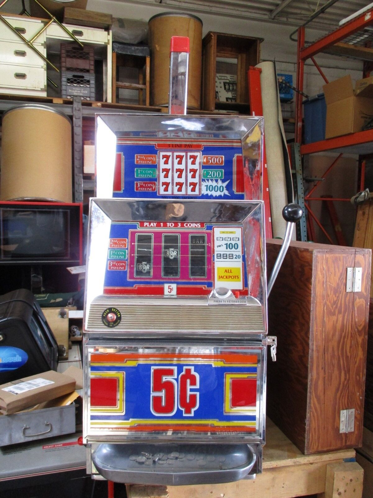Slot machine in vendita