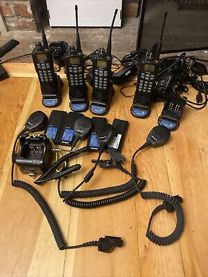Lot Of 5 Efj 5100es Uhf Ham Radio Gmrs Business Band With Chargers And Mics