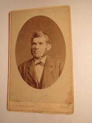 Buckau - alter Mann mit Bart im Anzug - Portrait / CDV