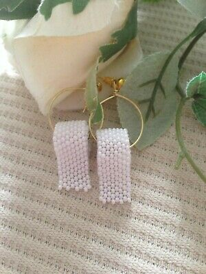 Klopapier Toilettenpapier Perlen Hamsterkäufe Ohrring Handmade Corona
