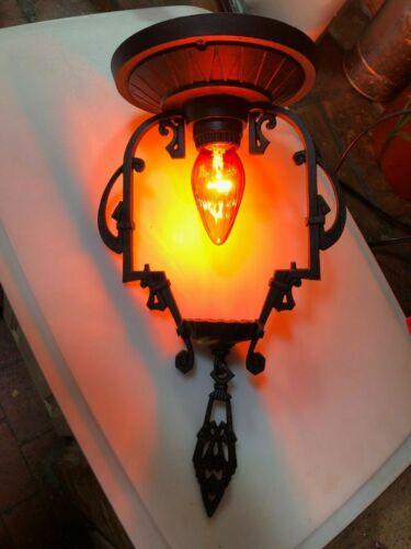 Vintage Ceiling Mount Light. RESTORED. New socket and wiring. Art Deco
