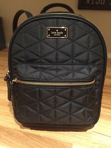 Kate Spade quilted nylon back pack