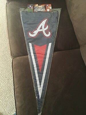 Atlanta Braves Applique - ATLANTA BRAVES APPLIQUE & EMBROIDERED YARD AND WALL PENNANT GARDEN FLAG NEW