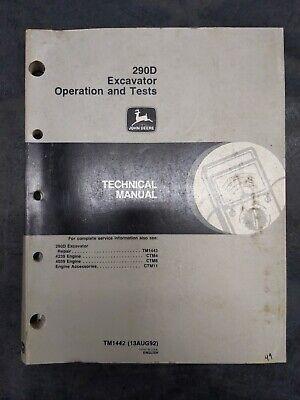 John Deere 290d John Deere Excavator Operation And Test Technical Manual
