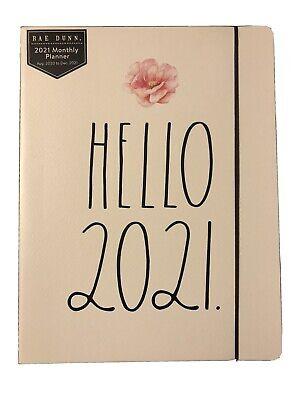 Rae Dunn 2021 Hello 2021 Planner White New Aug 2020-dec 2021