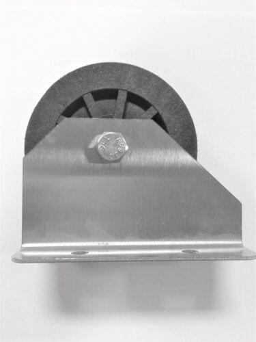 "Lifetime Pulley 3"" Diameter Base Mount Nylon Pulley w/Stainless Steel Bracket"