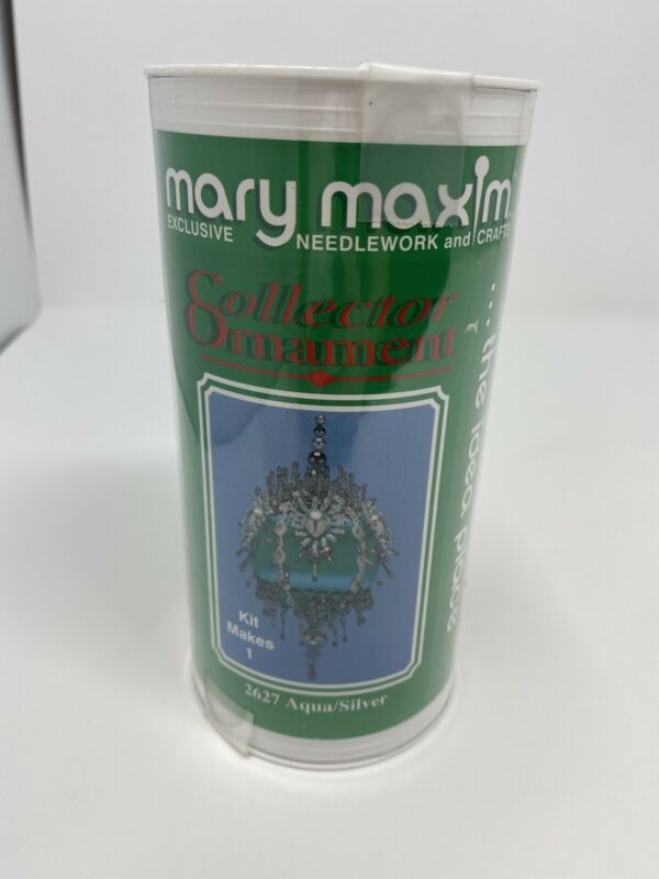 Christmas Holiday Mary Maxim Collector Ornament KIT Aqua/Silver 2627