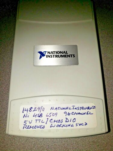NATIONAL INSTRUMENTS USB-6509 96 CHANNEL 5V TTL/CMOS D10 14824ABCD/11