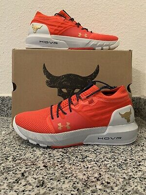 Brand New - 10 - Under Armour Project Rock 2 Shoes- Blood Orange