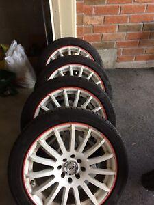 16 inch 4x100 4x114.3 205/45 R16 Continental