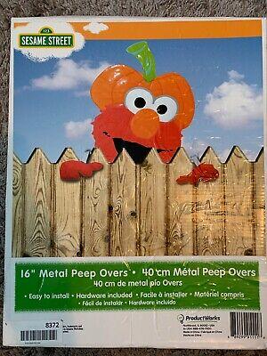 "16"" Sesame Street Outdoor Metal Peep Over Fence Decor, ELMO ()"