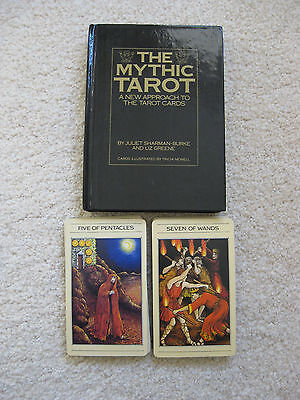 The Mythic Tarot, 78 Card Deck, Ritual Cloth with Positions, 224 Page Book