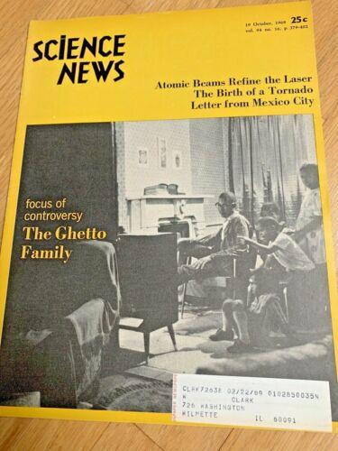 October 1968 SCIENCE NEWS Magazine THE GHETTO FAMILY