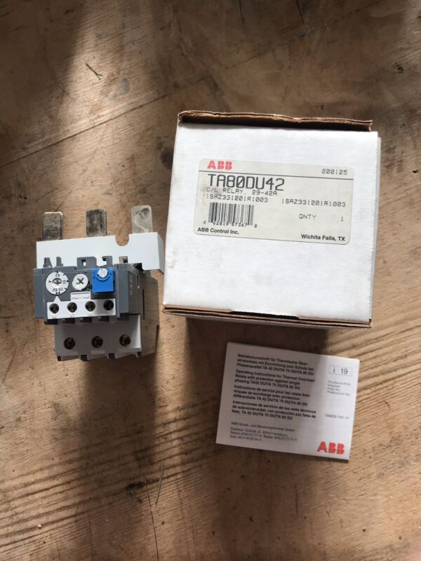ABB TA80DU-42 Thermal Overload Relay 29-42a