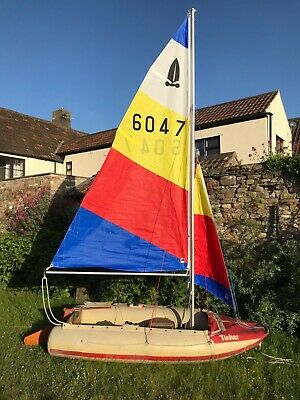 Tinker Tramp inflatable sailing dinghy yacht tender with sail rig rowing boat