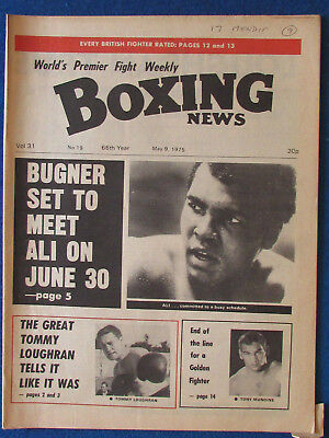Boxing News Magazine   9 5 75   Muhammad Ali Cover