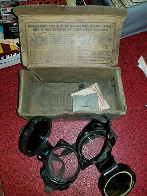 Lot 4 Vintage Wilson Welding Safety Glasses Steampunk