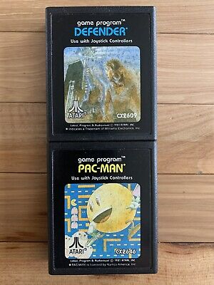 PACMAN & DEFENDER Atari 2600 Video Game CX-2646 Tested & Working -cartridge only