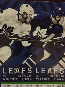 Toronto Maple Leafs vs. Ottawa Senators- Wed. Feb. 6