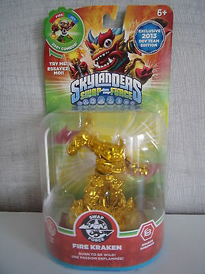 Skylanders Swap Force - Gold Fire Kraken (DEV Team Edition) - Neu & unbespielt ()