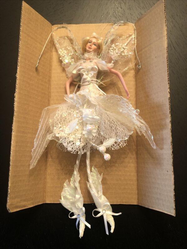 """12"""" Hanging Fairy, White, KF0487, new"""