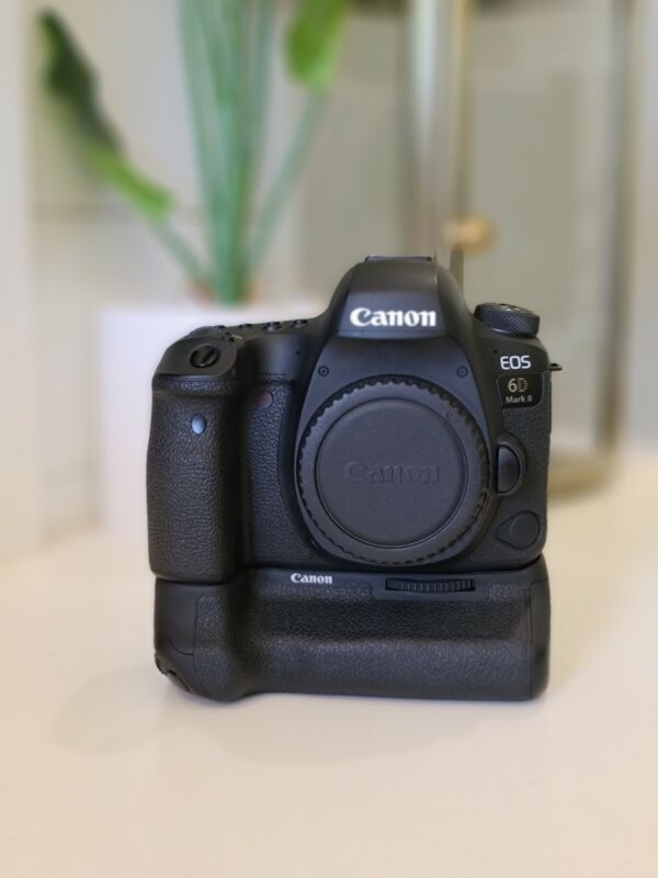 Canon EOS 6D Mark II 26.2MP Digital SLR Camera Body with Canon battery grip