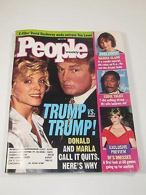 People Magazine- Donald Trump Vs Trump: Divorce- May 19, 1997 Marla Maples