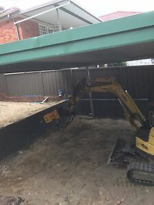 Concrete removal pool demolition excavator hire excavation Burwood Burwood Area Preview